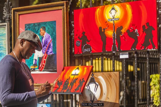 Kunstenaar Jackson Square New Orleans Louisiana