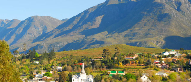 rondreis zuid-afrika Swellendam plaatsje overzicht