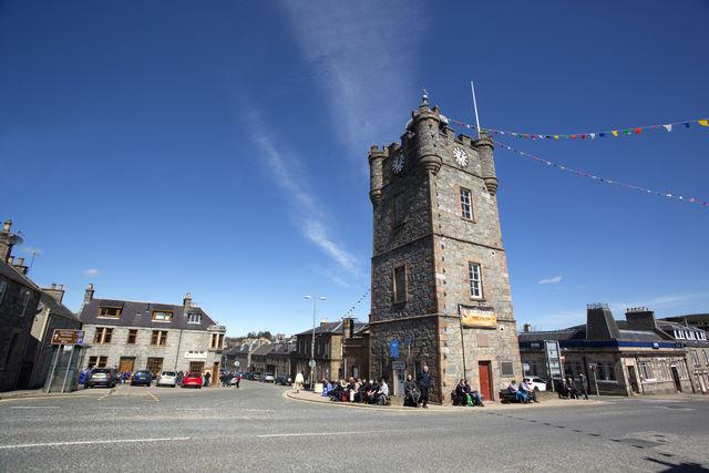 Klokkentoren Dufftown Schotland