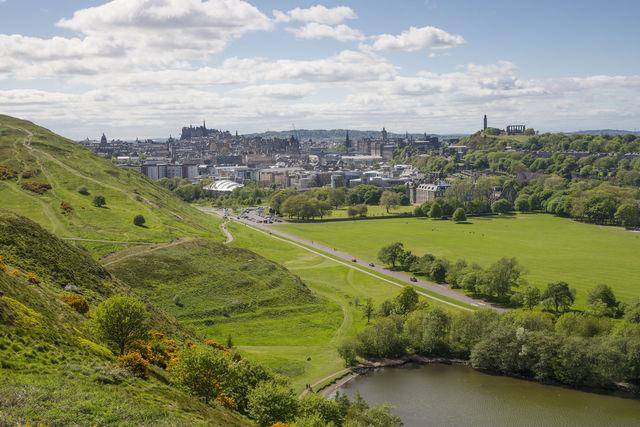 Natuur stad Edinburgh Schotland