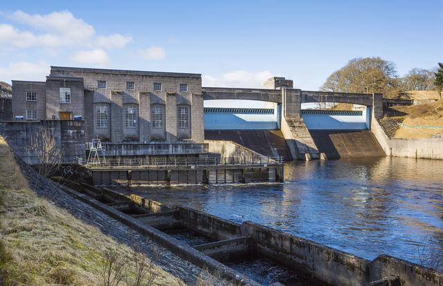 Dam Pitlochry Schotland