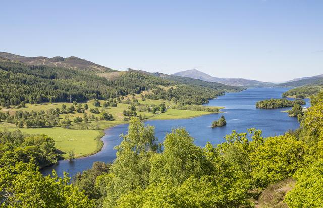 Rivier Loch Tummel Pitlochry Schotland