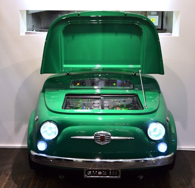 Smeg Fiat 500 fridge