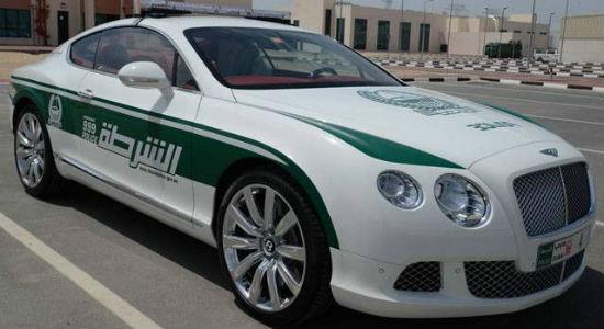 Bentley Dubai Police car