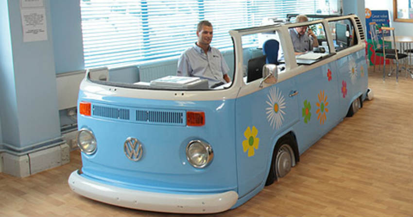 Danbury Motorcaravans VW desk