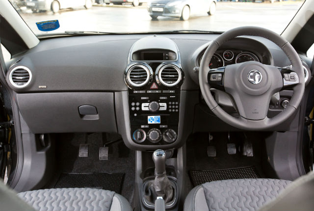 Interior of the dual control hire car