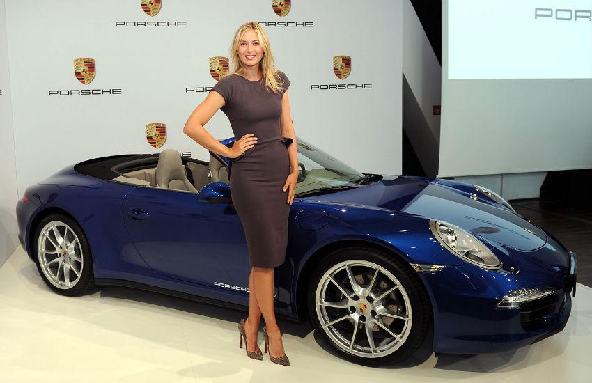 Sharapova won a Porsche 911 Carrera 4S convertible