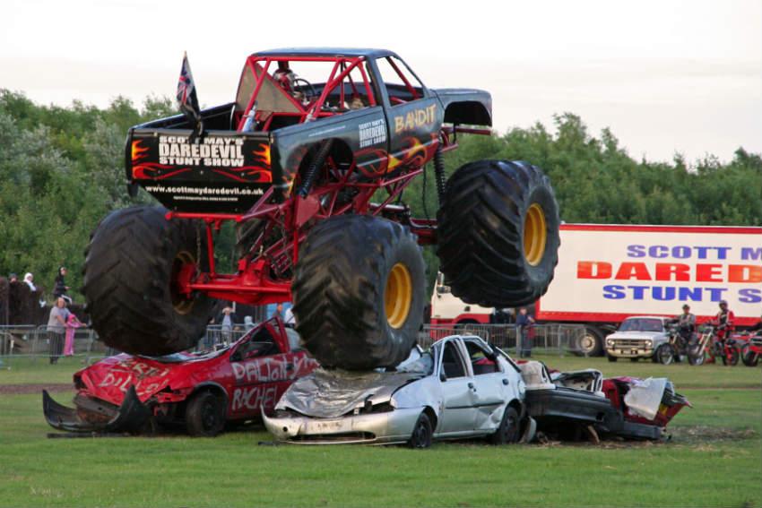 Monster Truck for running over zombies