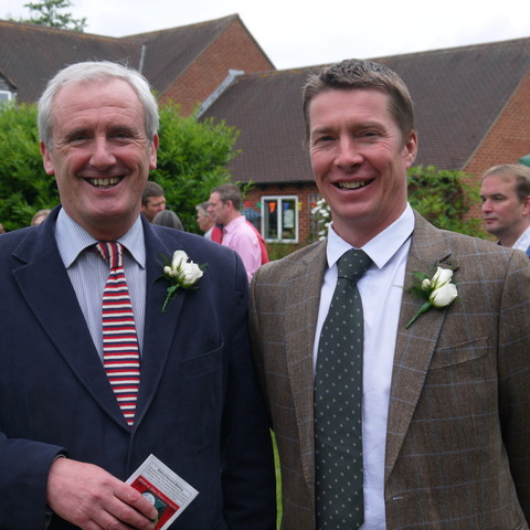 Handing over the baton: Sibford School retiring head Michael Goodwin is pictured with new Head Toby Spence at the school's recent Open Day.