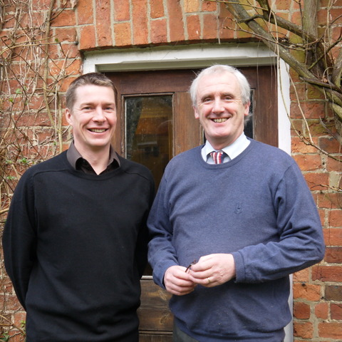 Toby Spence is pictured (left) with Sibford's current head Michael Goodwin