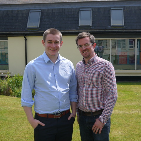 Matt Rainsberry is pictured left with Sibford Head of Drama, Neil Madden.