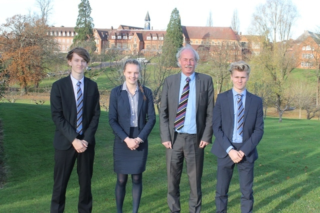 Cranleigh School's England Hockey players return to CPS for School Assembly