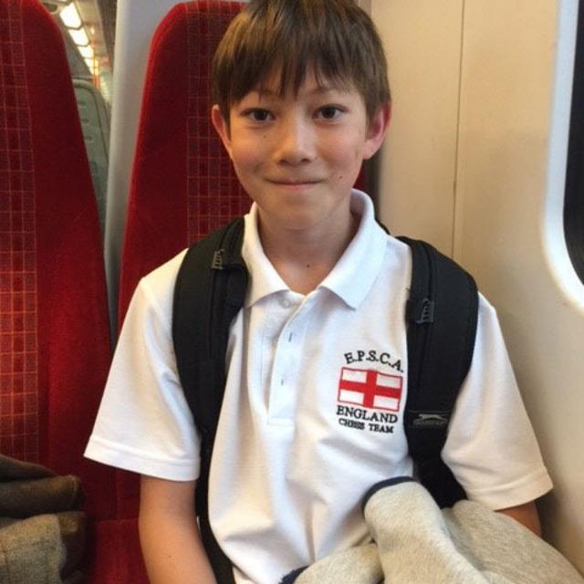 Success for Xavier and the U11 England chess squad v Belgium