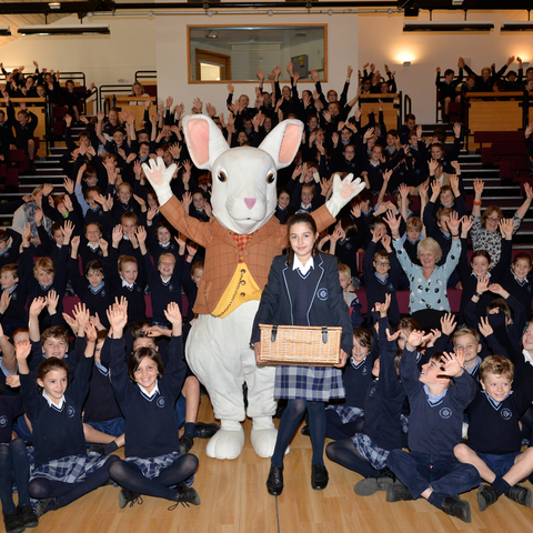 The White Rabbit visits assembly