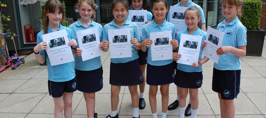 Headington's mathematicians with their certificates