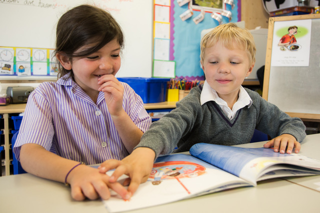 Children in the Pre-Prep benefit from small class sizes in an intimate, friendly setting.