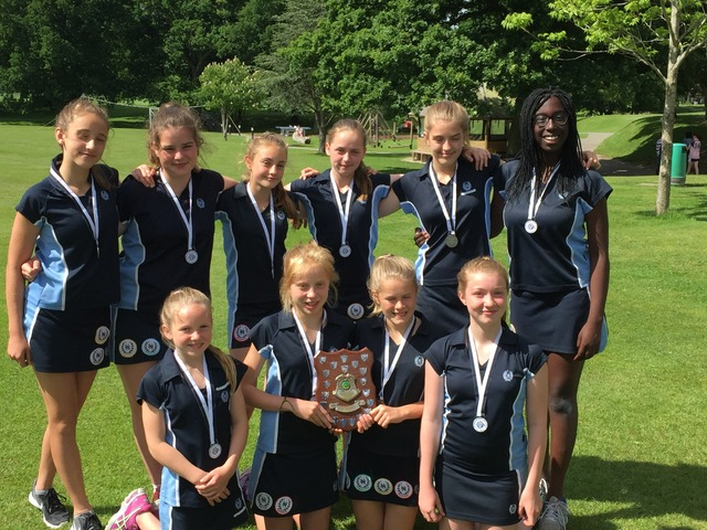 Under 13 Team: Lily Lander, Harriet Bailey, Imogen Tilley, Imogen Jenner, Savannah Winston, Isabel Sobowale, Manon Rees-Young, Kitty Lavercombe, Ana D