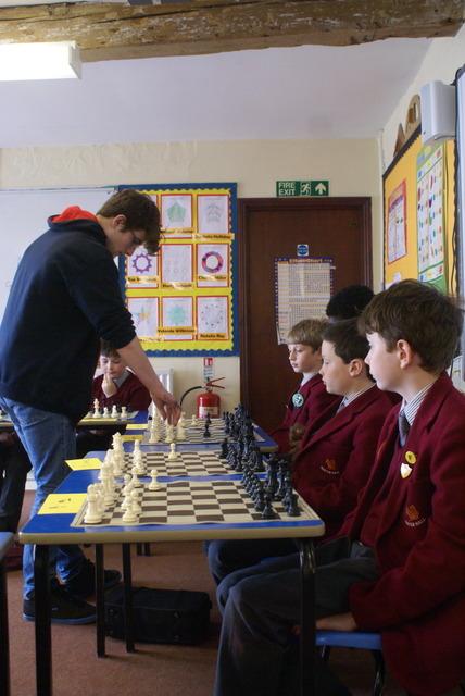 England Junior Chess player visits Hunter Hall Schhol Penrith