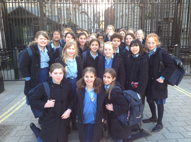 Year 6 at Badminton School Visit Parliament and Meet Charlotte Leslie Mp