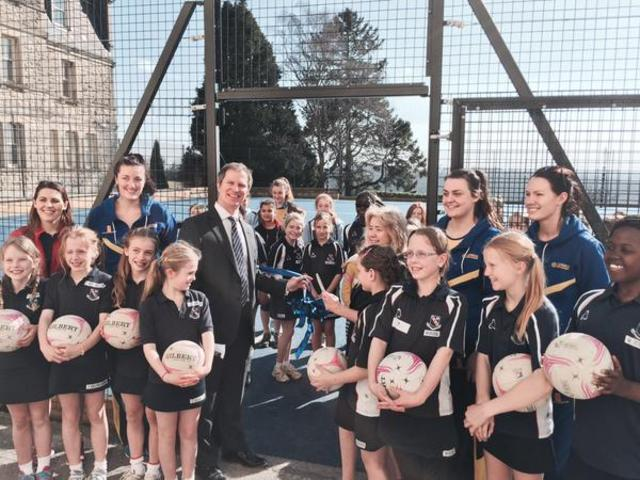 Netbal Launch with Mayor 1