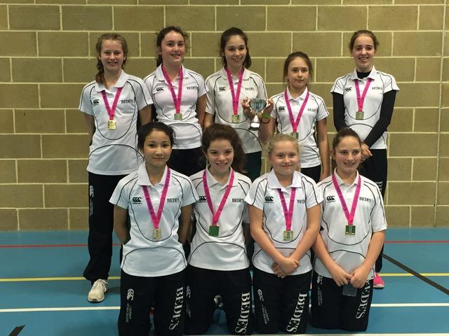 Bede's Girls win Lady Taverner's Indoor U13 County Championship 2017