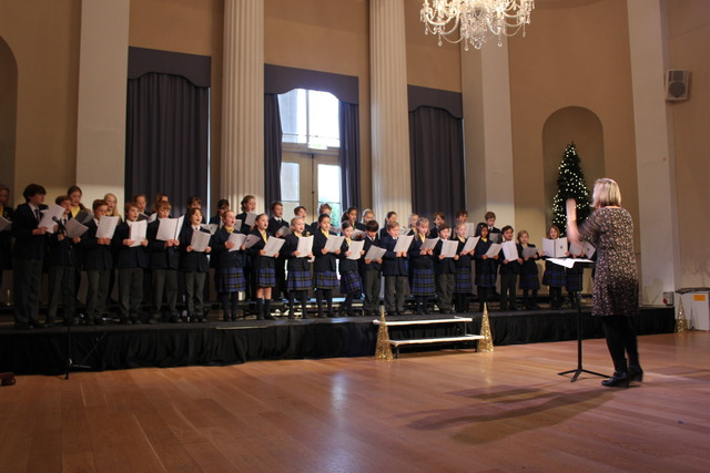 Prep School Choir performing at the Pump Rooms