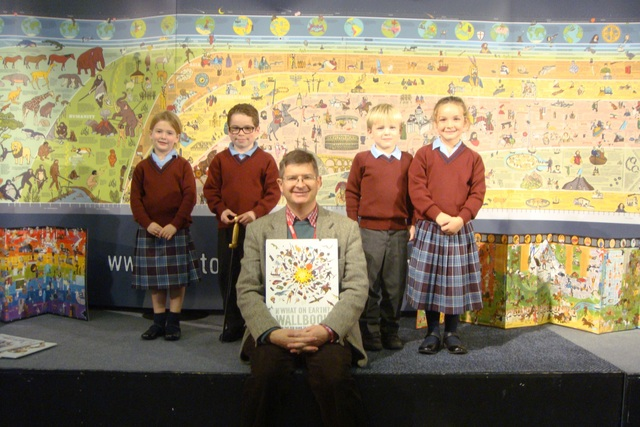 SLCJS Christopher Lloyd with pupils
