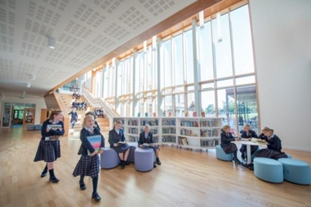 New school foyer