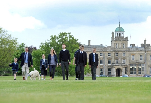 Culford's Head of Sixth Form with his family and pupils