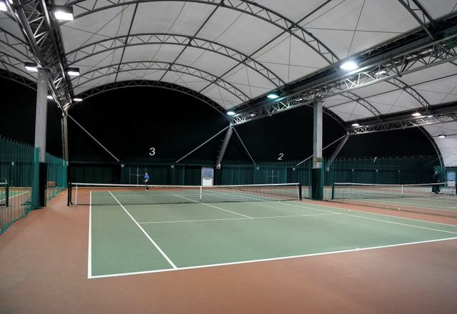 Culford's championship standard four court Indoor Tennis Centre