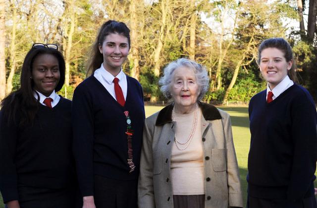 'Churchill's Secret Army' Operative Noreen Riols Talks to Girls at Heathfield School, Ascot