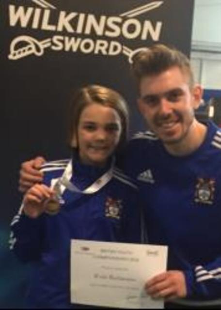 Queenswood Fencer Evie's Bronze Medal at British Championships