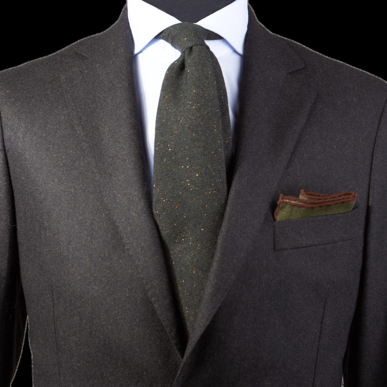 4a33d4a34d06 Drake's - Green Donegal Wool Tie | Baltzar