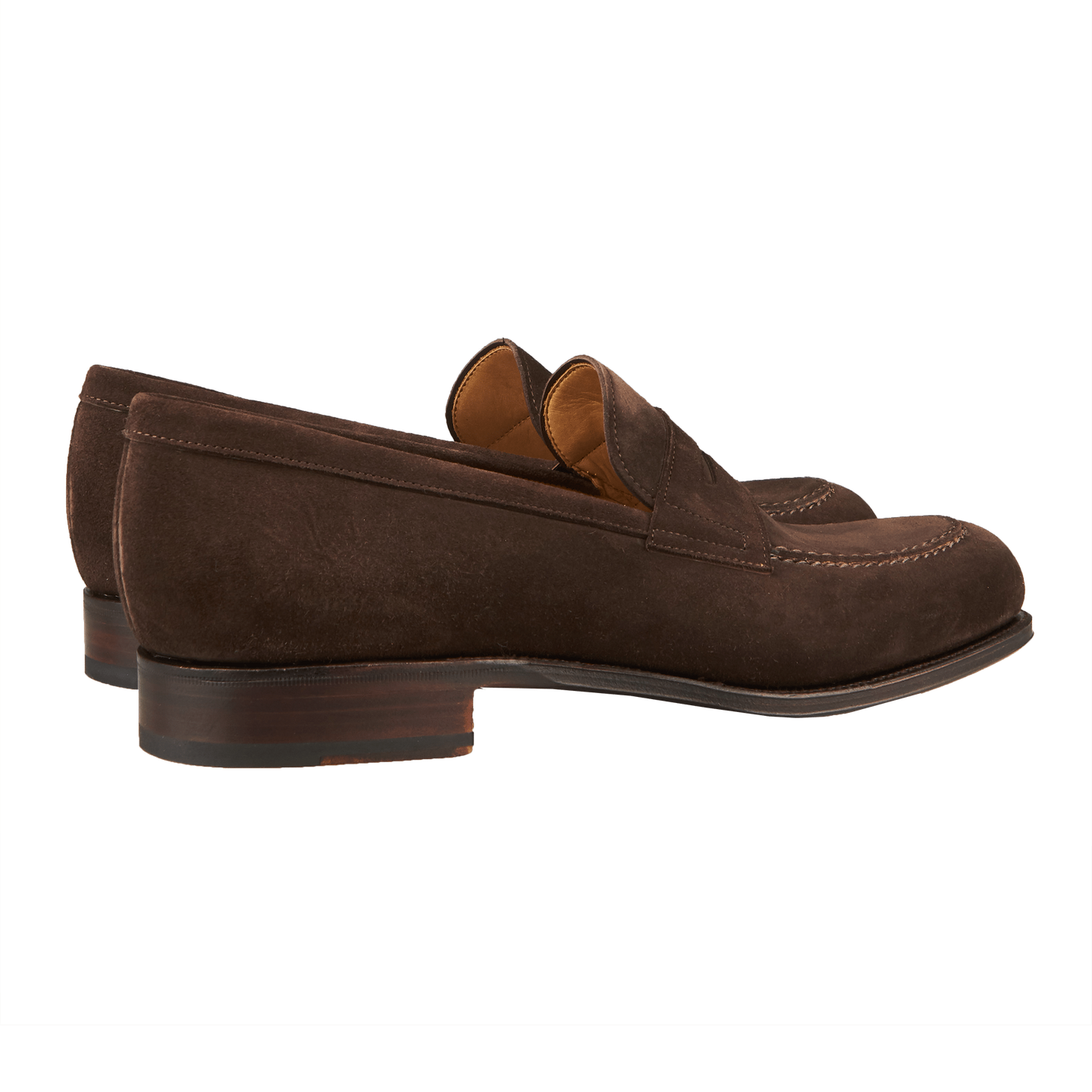 8d72899a24f Carmina - Brown Suede Forest Penny Loafer