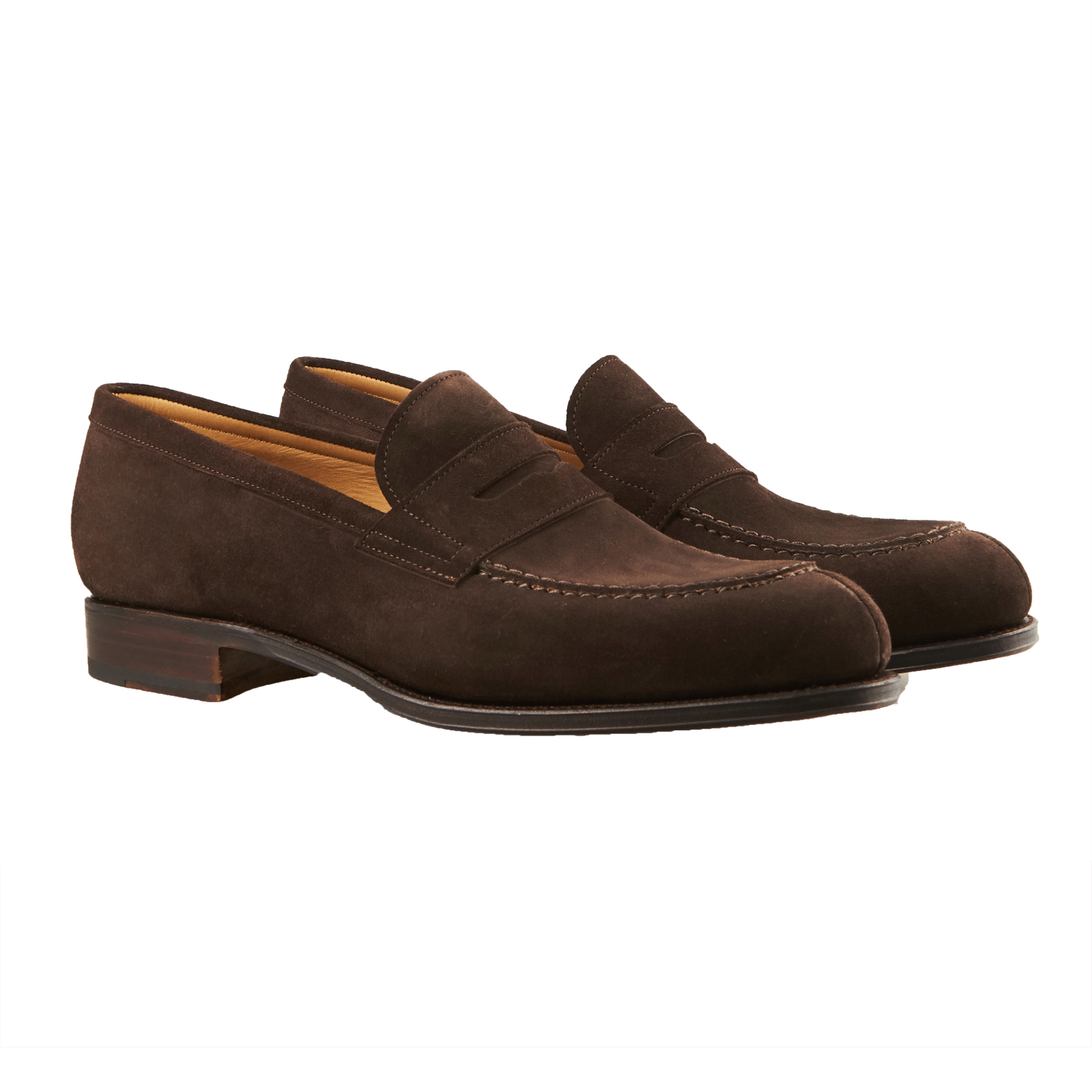 fae5e4236ba6 Carmina - Brown Suede Forest Penny Loafer
