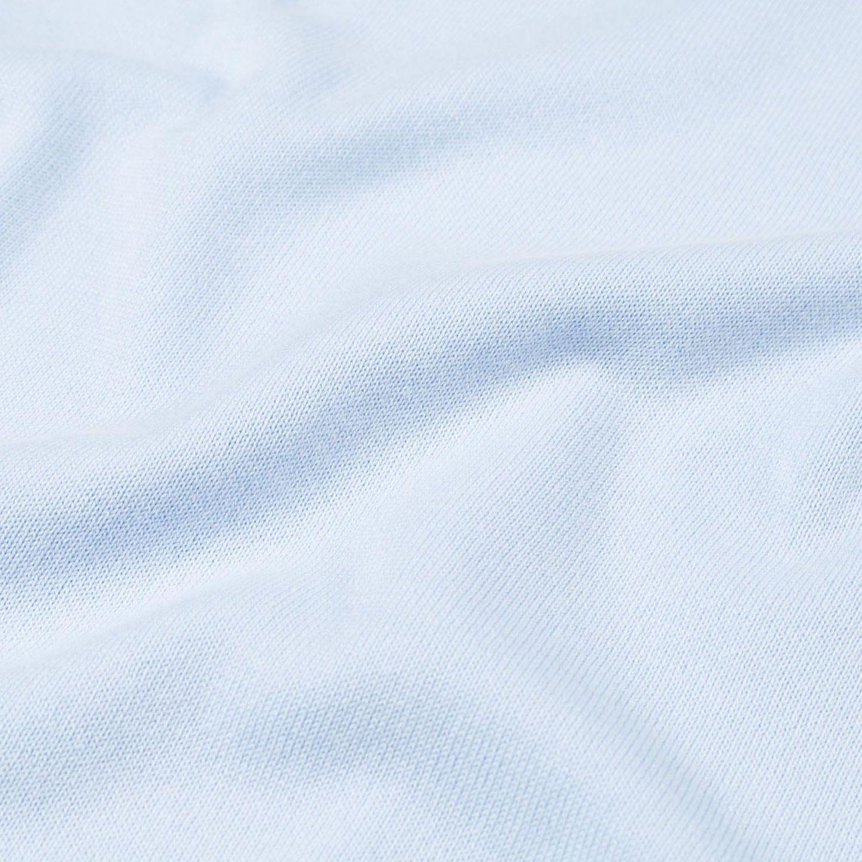 adc66494 Sunspel - Blue Short Sleeve Sea Island Cotton Knit Polo   Baltzar