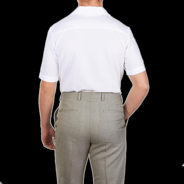 b5ec9bed Sunspel-White-Short-Sleeve-Jersey-Polo-Shirt-Back. - Baltzar