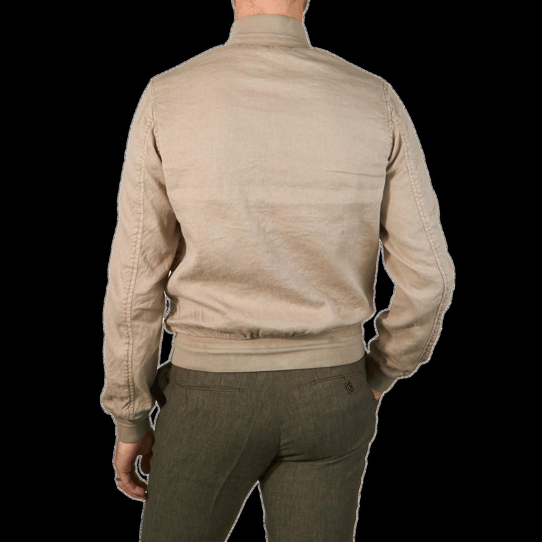 Mason's - Beige Linen/Cotton Viareggio Bomber | Baltzar