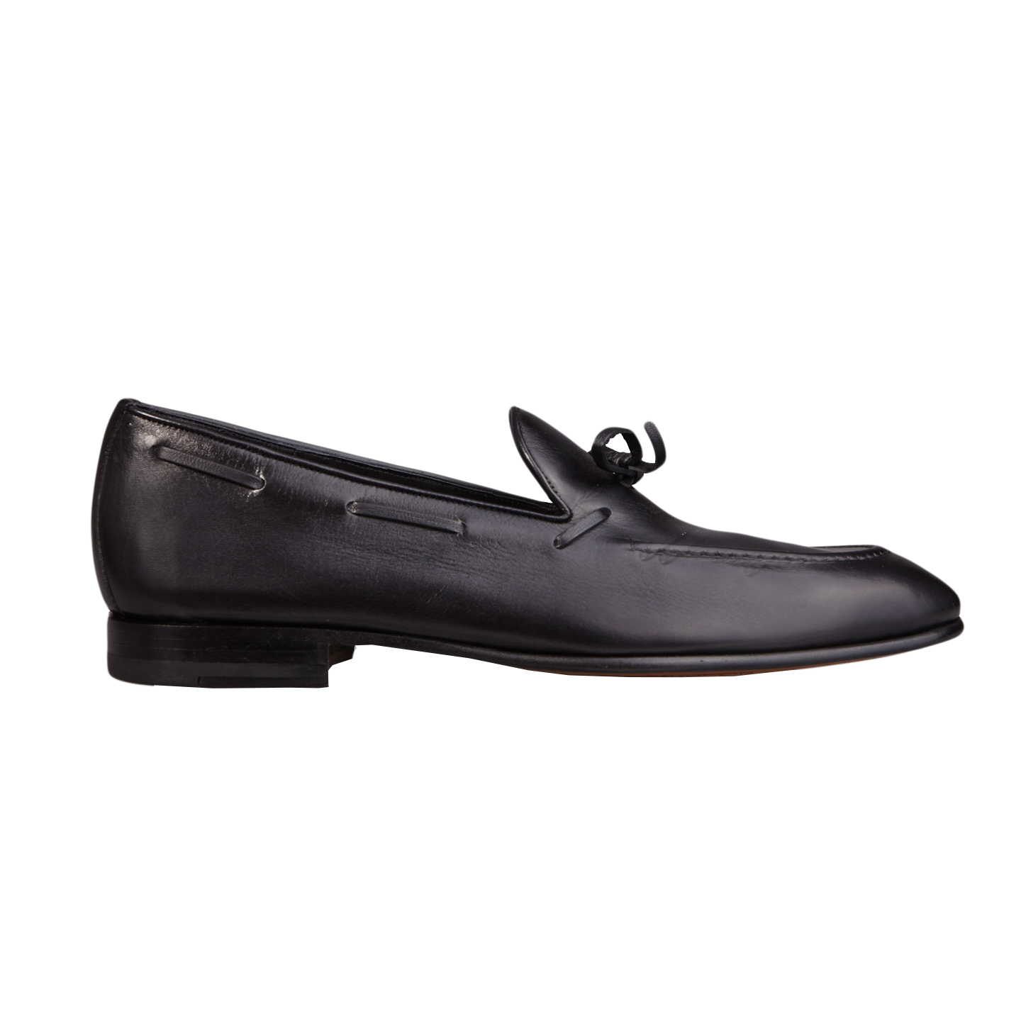 0a484fdbb050 Carmina - Black Calf Leather Unlined String Loafers