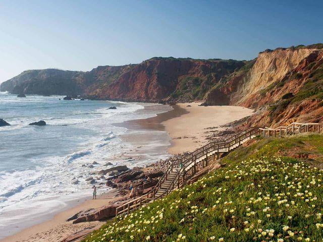 De kustlijn van de Costa Vicentina.