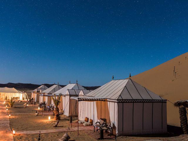 Glamping tenten in de Sahara.