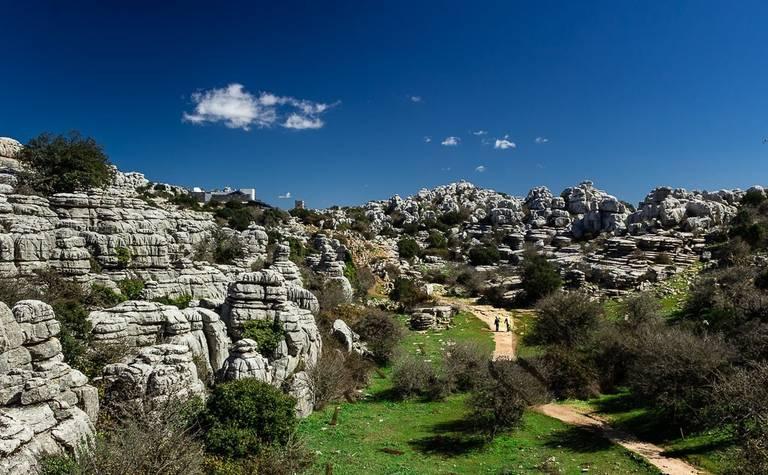 Overzicht van het natuurreservaat El Torcal.