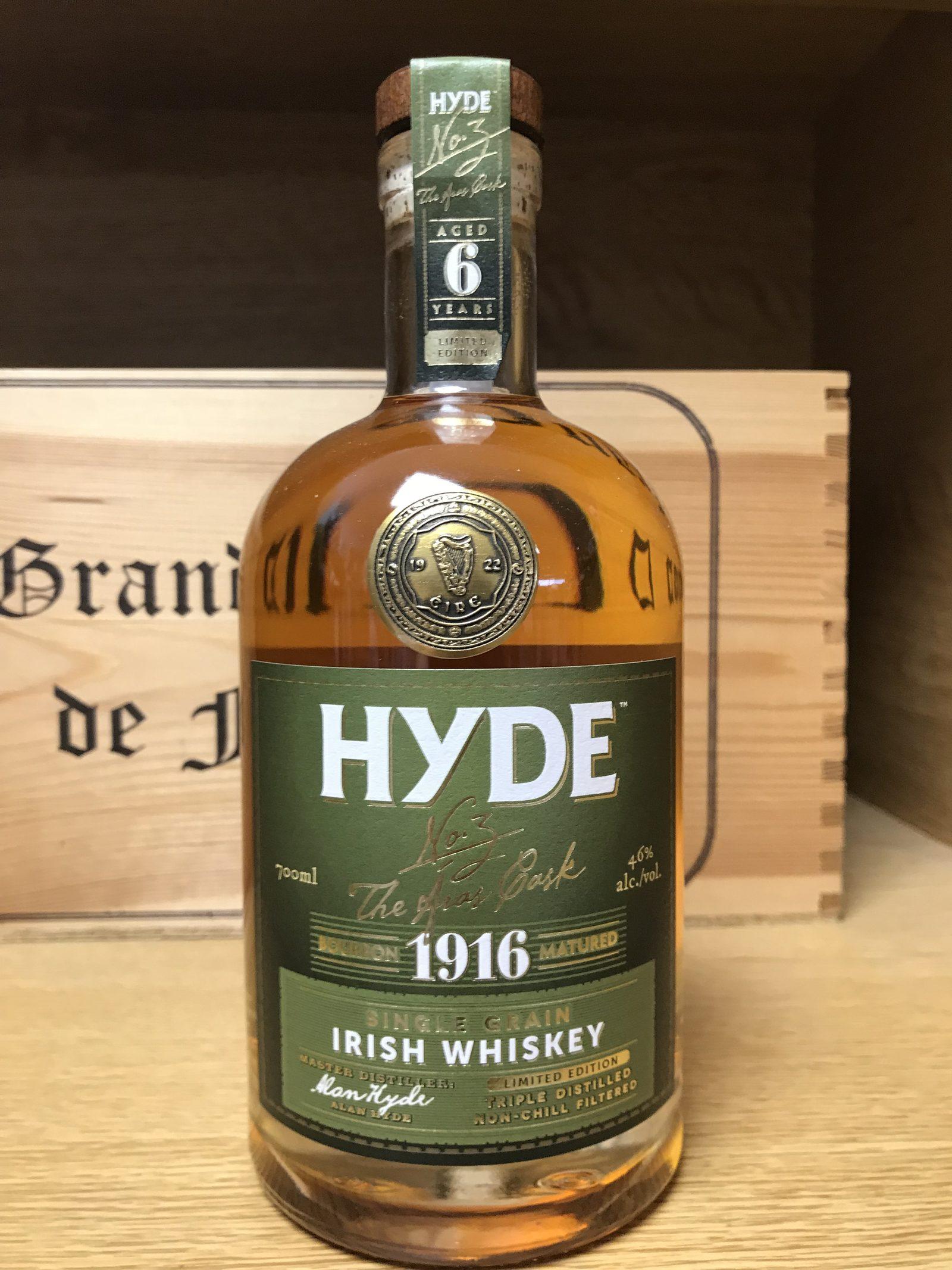 IRISH WHISKEY HYDE N°3 FINITION FUT DE BOURBON 46°