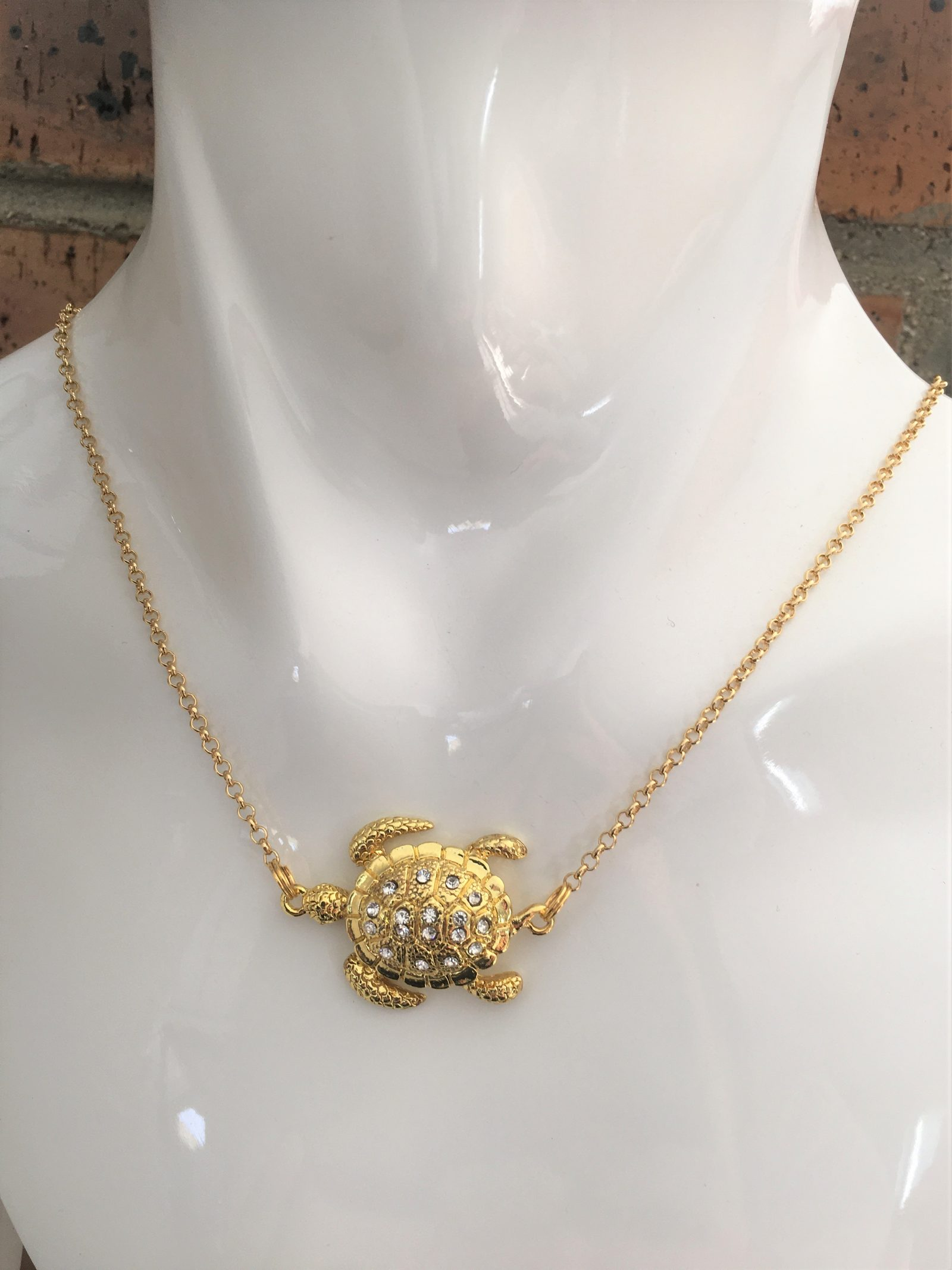 Collier plaqué Or Tortue