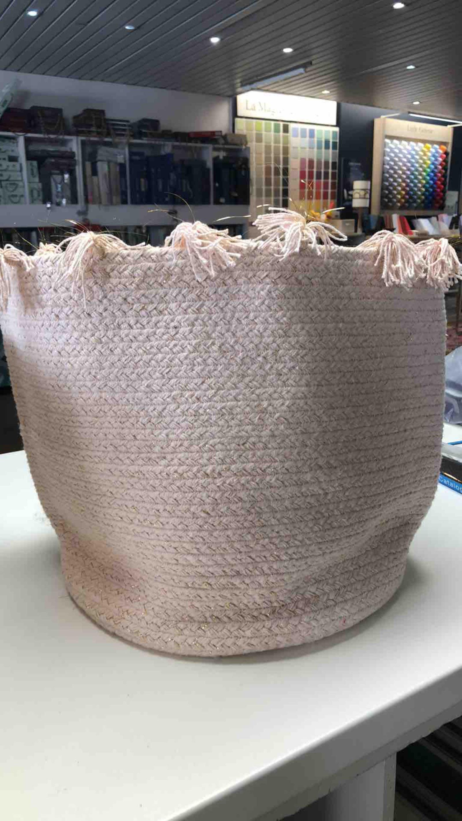 Panier en coton