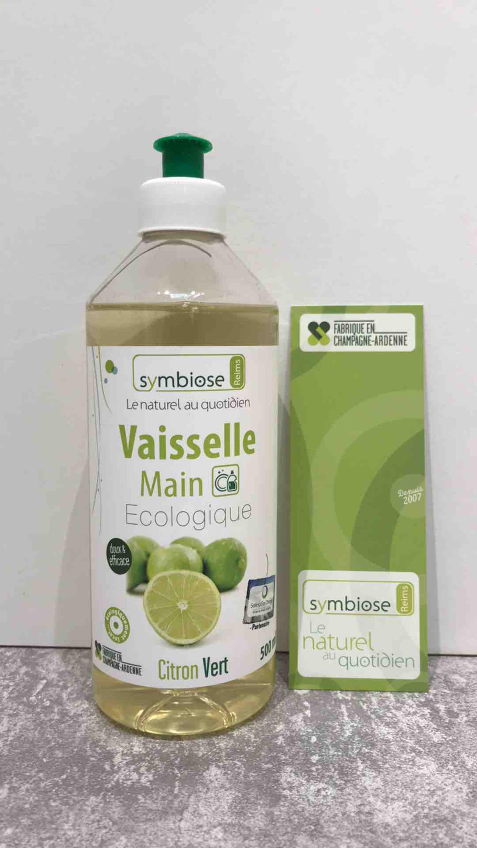 Vaisselle Main Écologique Citron Vert 500ml