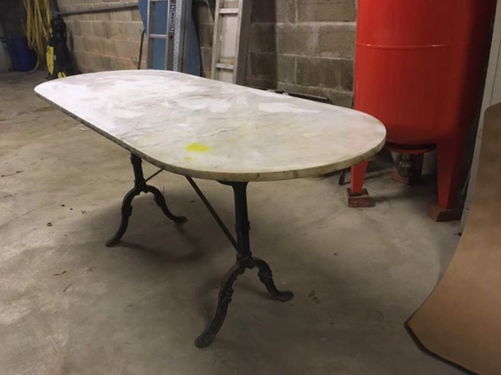 Bistrot Table Et Marbre Ancienne Fonte u3TlJ5Fc1K