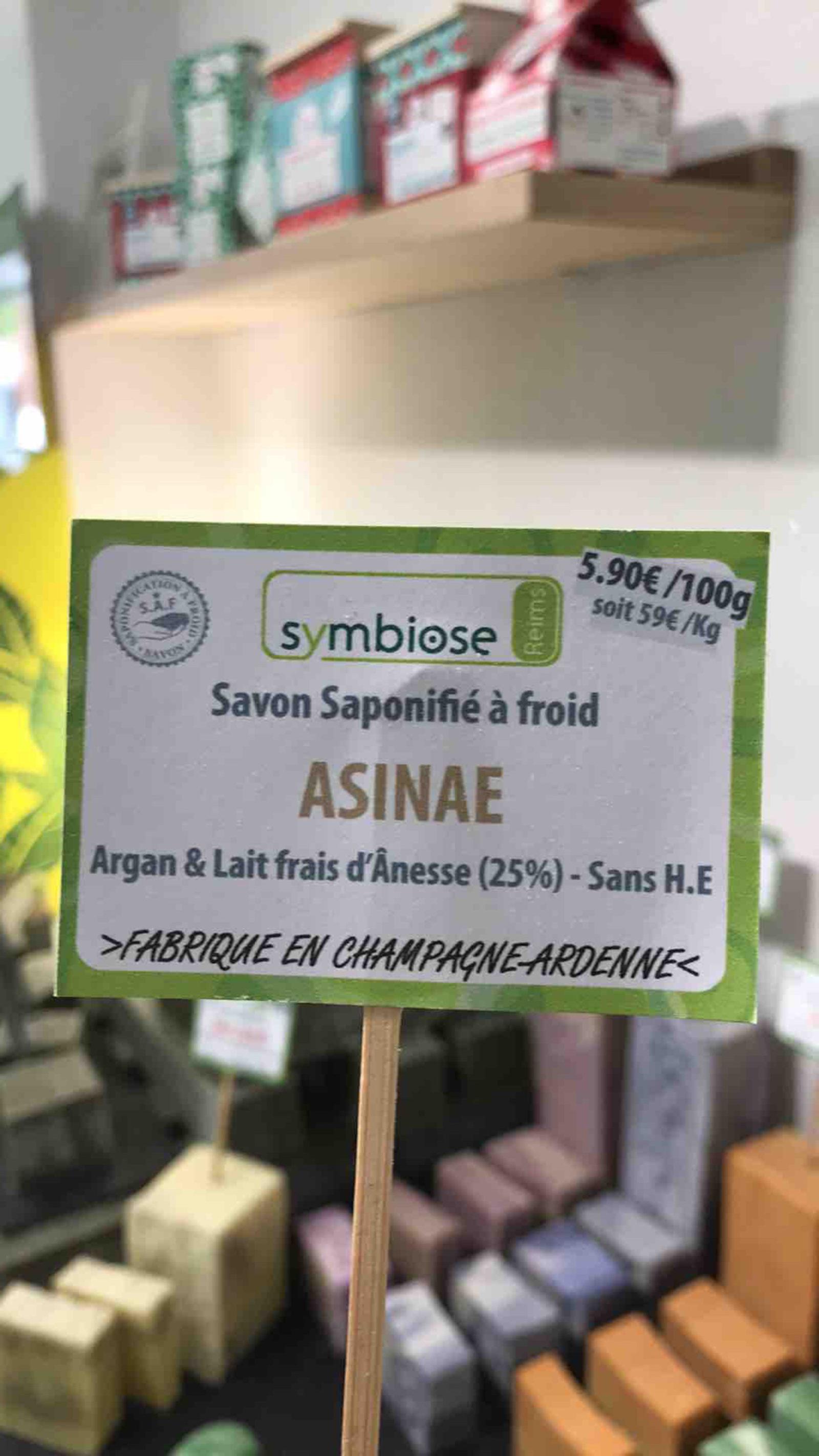 Savon Saponifié à Froid ASINAE 100gr