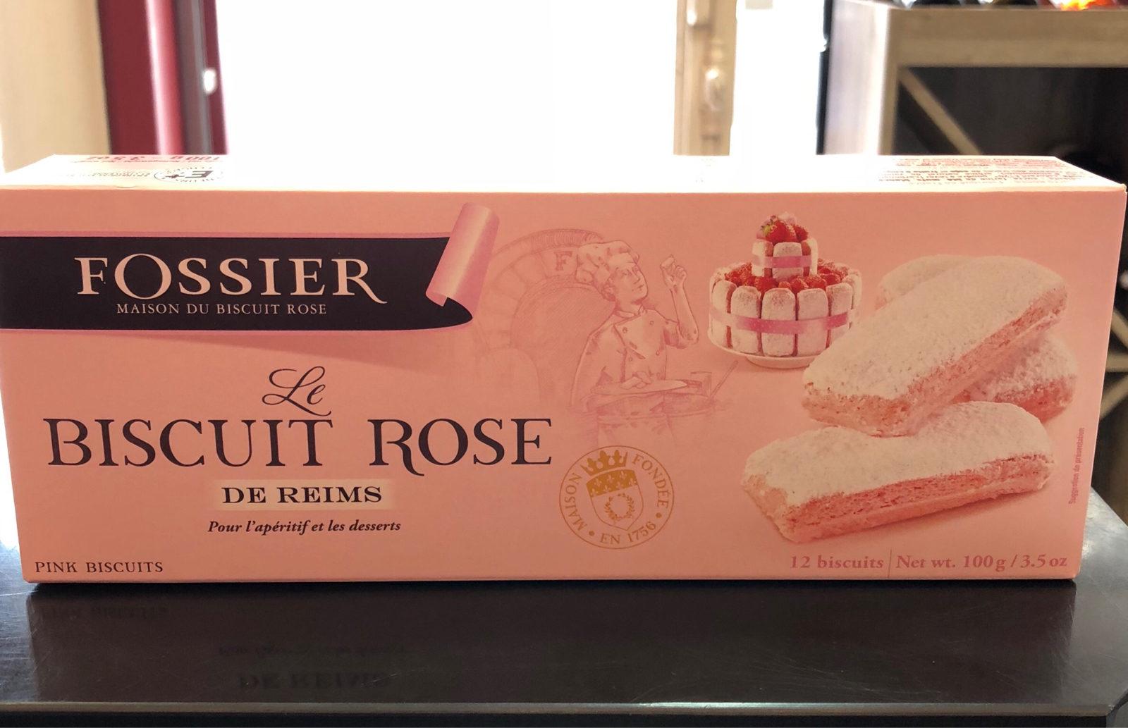 """Le Biscuit Rose de Reims """"Fossier"""""""
