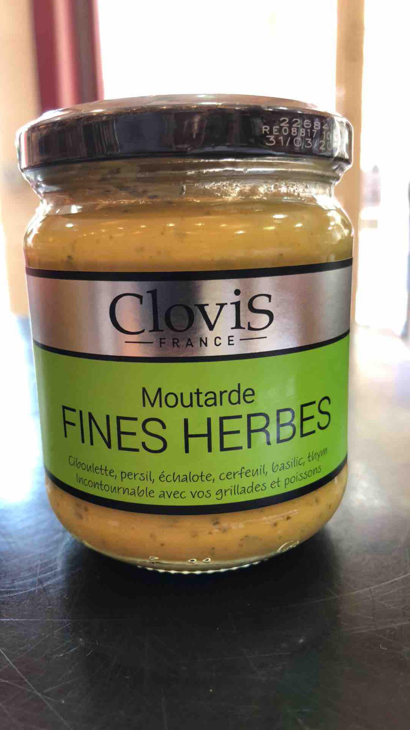 """Moutarde Clovis """"Fines Herbes"""""""